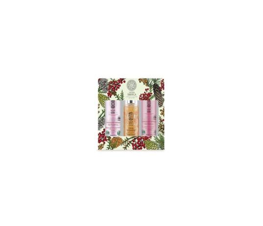 Natura Siberica rinkinys pažeistiems, dažytiems plaukams: šampūnas, kondicionierius, vitaminai 2 x 250 ml, 125 ml