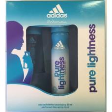 Rinkinys Adidas Pure Lightness: EDT moterims 30 ml + purškiamas dezodorantas 150 ml