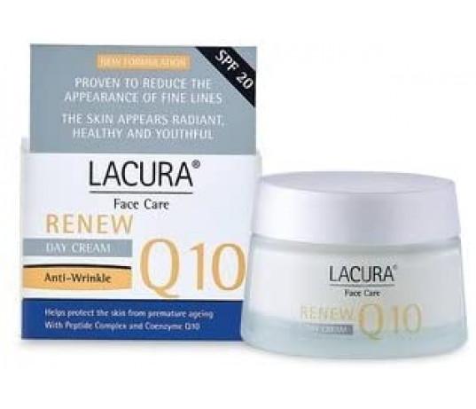 RINKINYS! Lacura Q10 RENEW dieninis ir naktinis kremai nuo raukšlių 50 ml + 50 ml